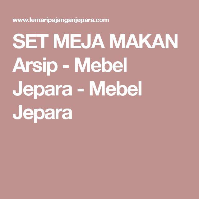 SET MEJA MAKAN Arsip - Mebel Jepara - Mebel Jepara