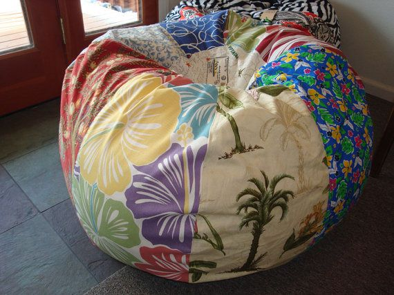 Vintage Style Tropical Travel Bean Bag Chair With Many By Paniolo 13000