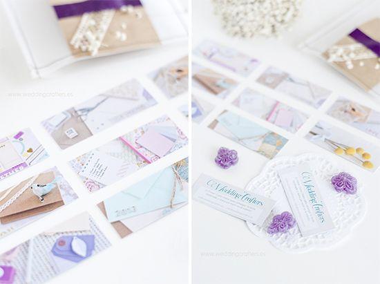 Fácil y Sencillo: Tarjetas de visita para Wedding Crafters / Mini Moo cards for Wedding Crafters