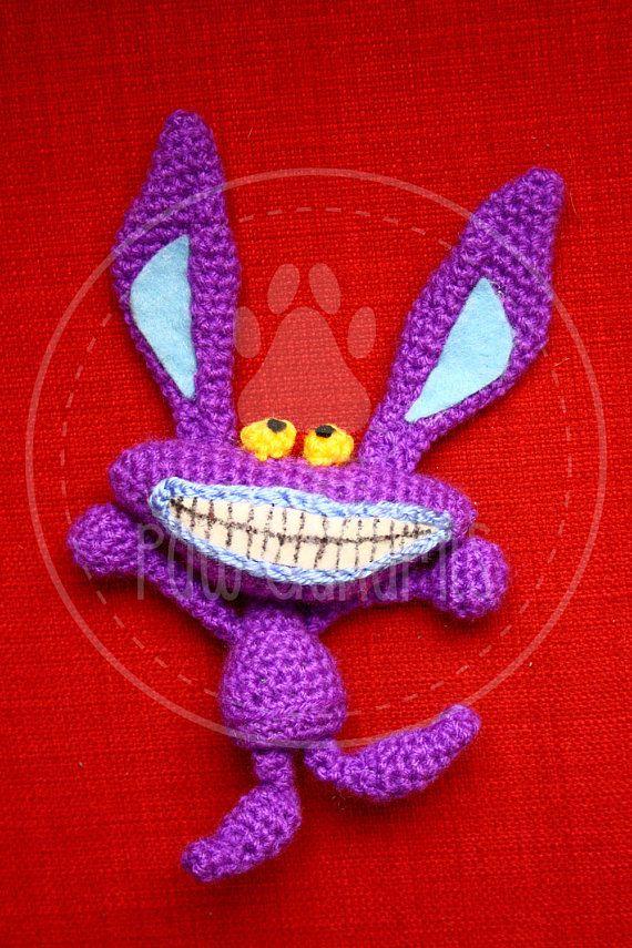 Ickis  Aaahh Real Monsters  18 cm amigurumi