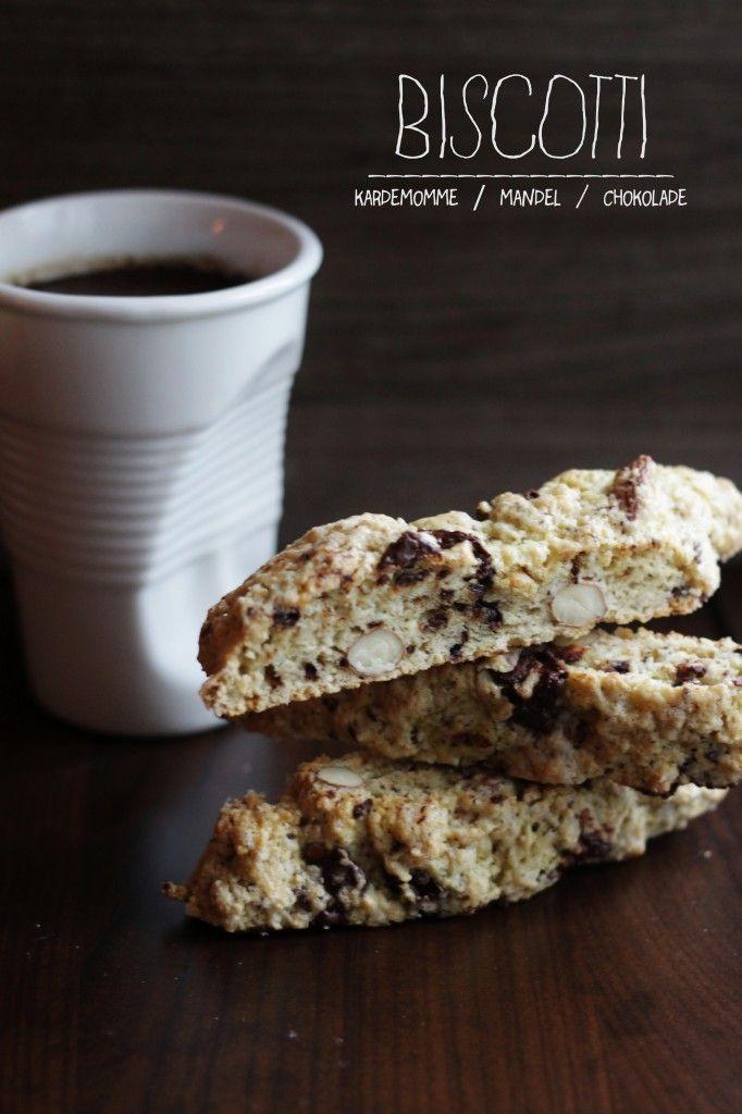 Biscotti med mandler og chokolade