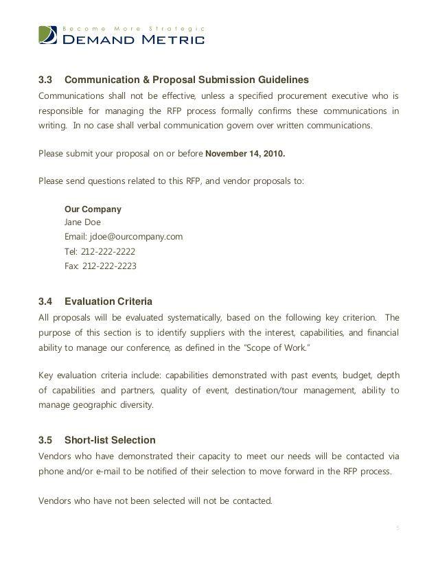 Event Management Rfp Template Event Proposal Event Proposal