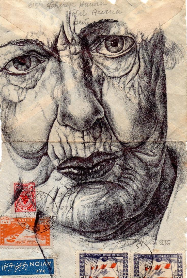 Mark Powell Envelope Drawings