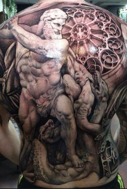 Full back tattoo by Teneile Napoli