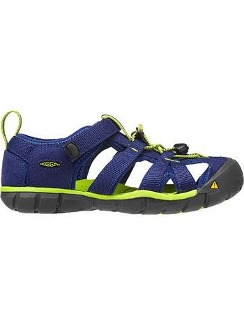 KEEN Seacamp II CNX Blue Depths/ Lime Green Kids & Youth sizes available at www.tinysoles.com! #TinySoles