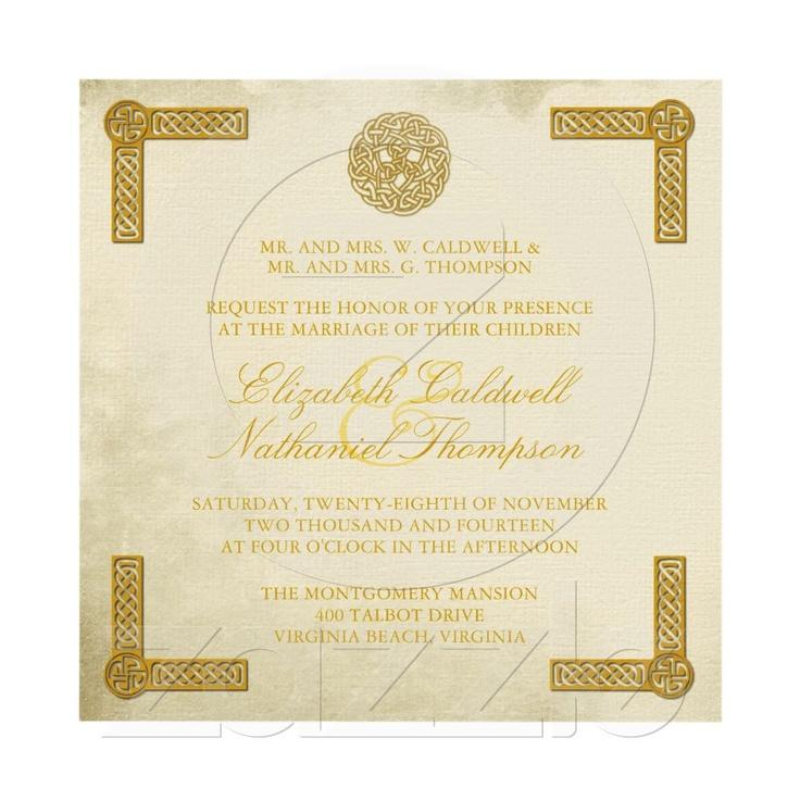 Celtic Knot Wedding Invitation Zazzle Co Uk