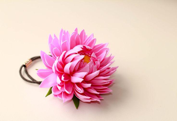 Аксессуары для волос с цветами из фоамирана. - Babyblog.ru