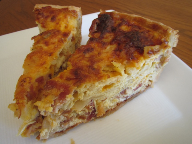 Cowboy Quiche (aka Bacon and Sharp Cheddar Quiche with Caramelized Onions)