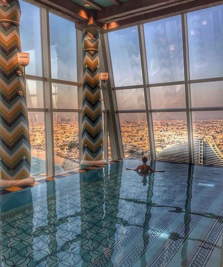 Talise Spa at Jumeriah Hotel, Burj al Arab. Never had any interest to go to Dubai, but this pool is making me reconsider.
