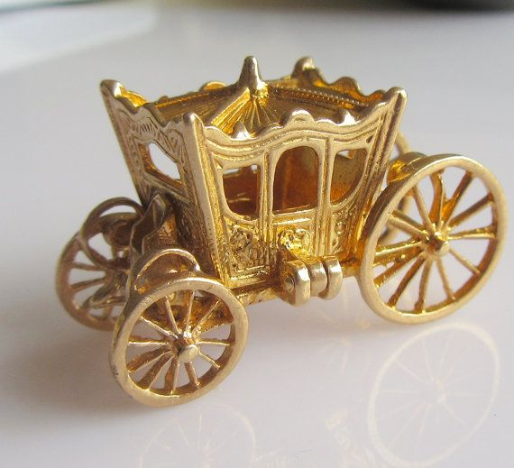 Hey, I found this really awesome Etsy listing at https://www.etsy.com/listing/240763027/9ct-gold-cinderella-coach-and-slipper