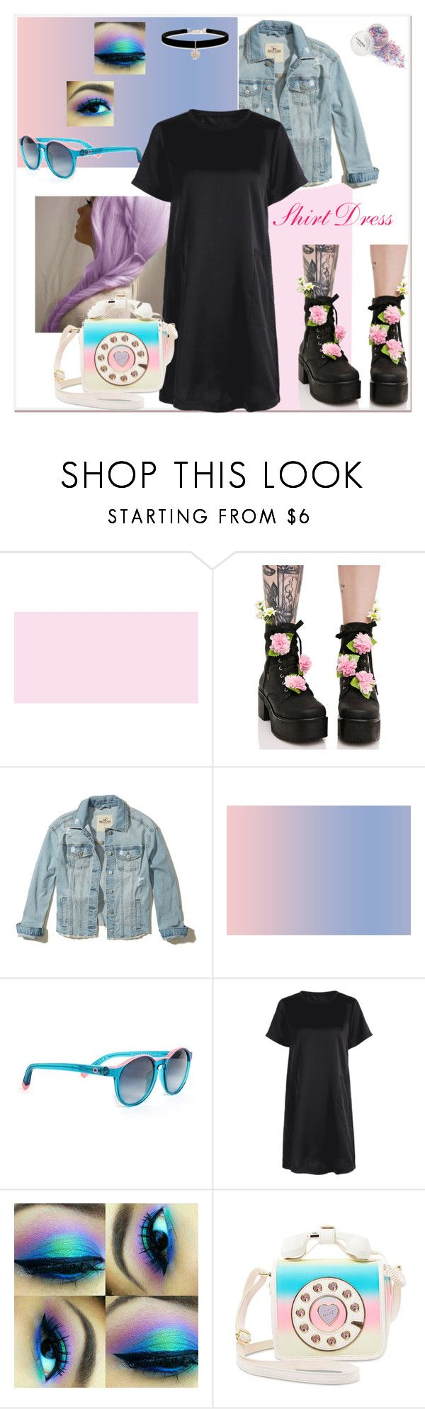"""Shirt Dress"" by tattooedmum on Polyvore featuring Sugar Thrillz, Hollister Co., Etnia Barcelona, Betsey Johnson, shirtdress, contestentry and dollskill"