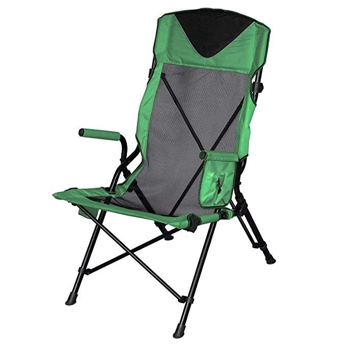 High Sling Beach Camping Portable Outdoor Ergo Folding Chair With