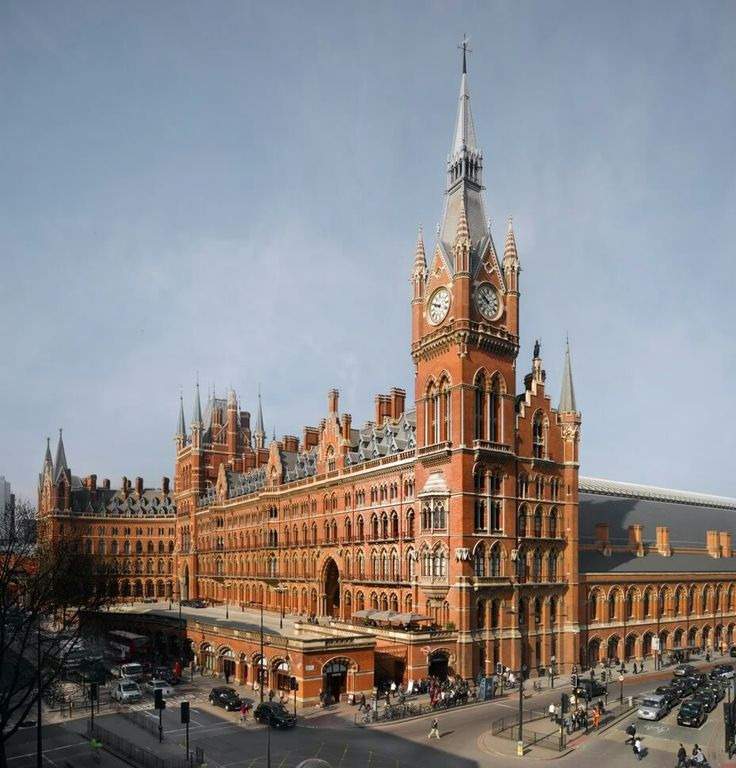 St Pancras Station clock tower - height 270 feet - completed 1873