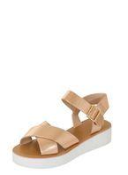 Womens *London Rebel Rose Gold Flatform Sandals- Rose Gold