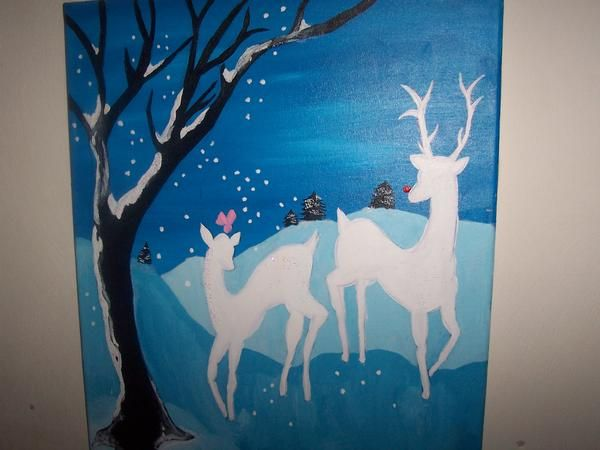 A Christmas Painting | Arts & Crafts of Mine | Christmas ...