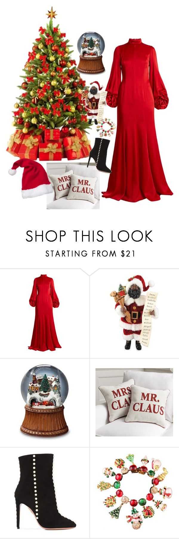"""""""Untitled #2010"""" by muffinsangria ❤ liked on Polyvore featuring Andrew Gn, Santa's Workshop, Ballard Designs, Aquazzura, Gymboree and Carlo Zini"""