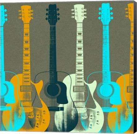 - Description - Why Accent Canvas? This exquisite Guitars 5 Music Canvas Wall Art Print by Stella Bradley is created using quality fade resistant inks on a premium cotton canvas to ensure durability.