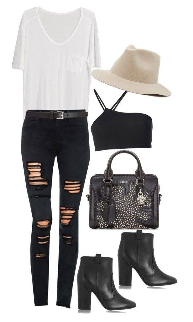 """Christina Perri Concert 7/12/2015"" by samikayy76 ❤ liked on Polyvore featuring Alexander McQueen, Joe's Jeans, Laurence Dacade, Helmut Lang, Barneys New York and ootd"