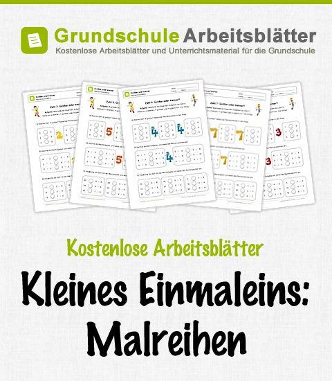 Kostenlose Arbeitsblätter und Unterrichtsmaterial zum Thema Kleines Einmaleins: Malreihen im Mathe-Unterricht in der Grundschule.