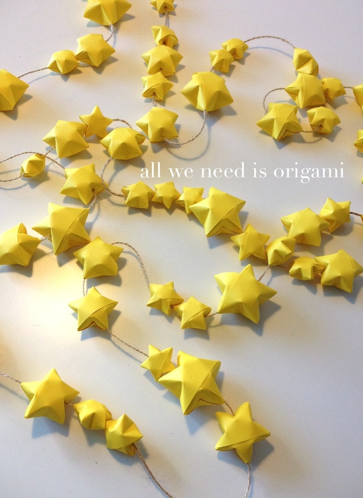 These would be cool to make.....origami garland
