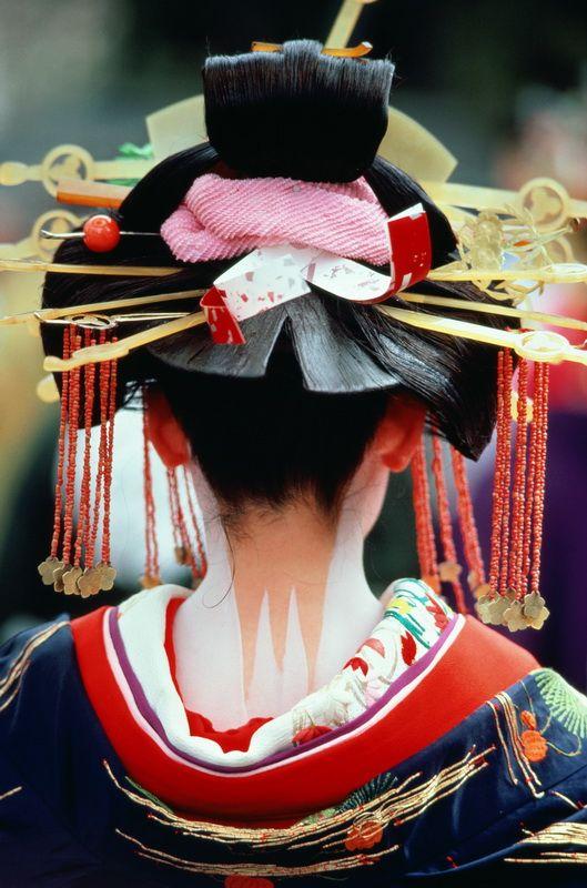 An oiran, a japanese courtesan.