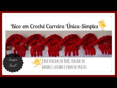 BICO EM CROCHÊ CARREIRA ÚNICA -SIMPLES | Cantinho do Video