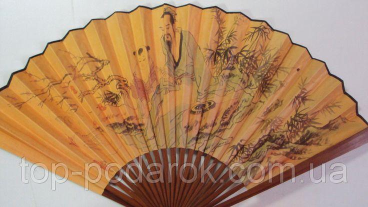 Веер ручной бамбук и бумага , фото 1