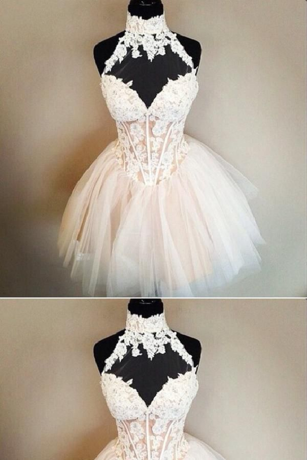 3159747ac5c Custom Made Dazzling High Neck Homecoming Dresses