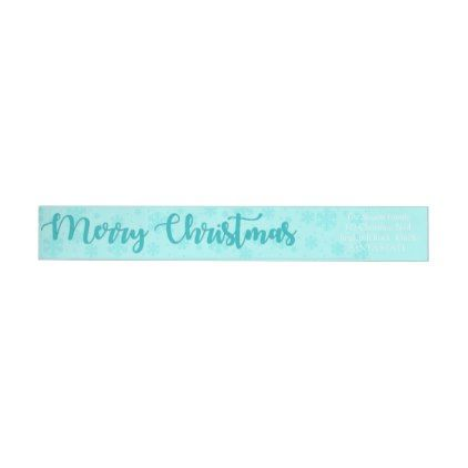 Merry Christmas Snowflake wraparound label - return address labels label diy personalize cyo unique design custom