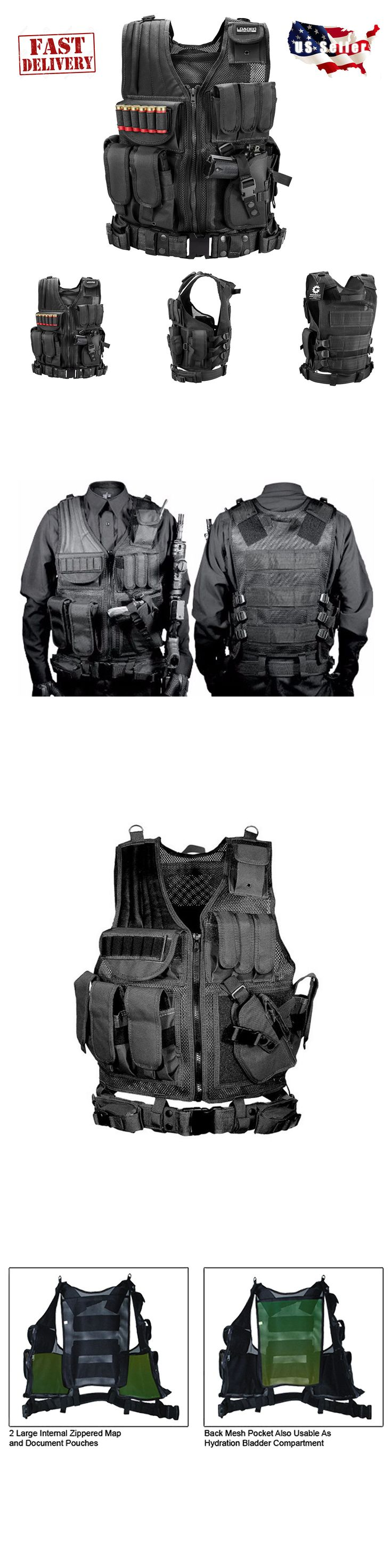 Chest Rigs and Tactical Vests 177891: Tactical Military Vest Swat Molle Assault Combat Gear Police Black Holster Ammo -> BUY IT NOW ONLY: $51.99 on eBay!