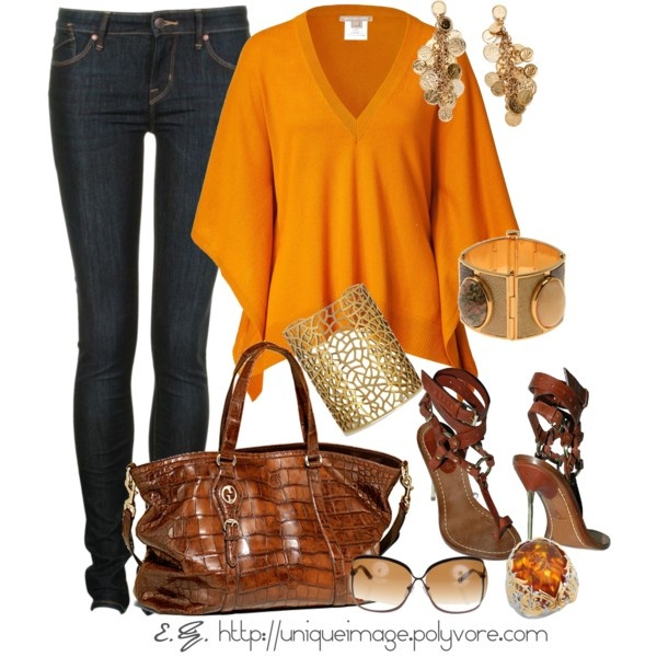 Amber & Gold, created by uniqueimage on Polyvore