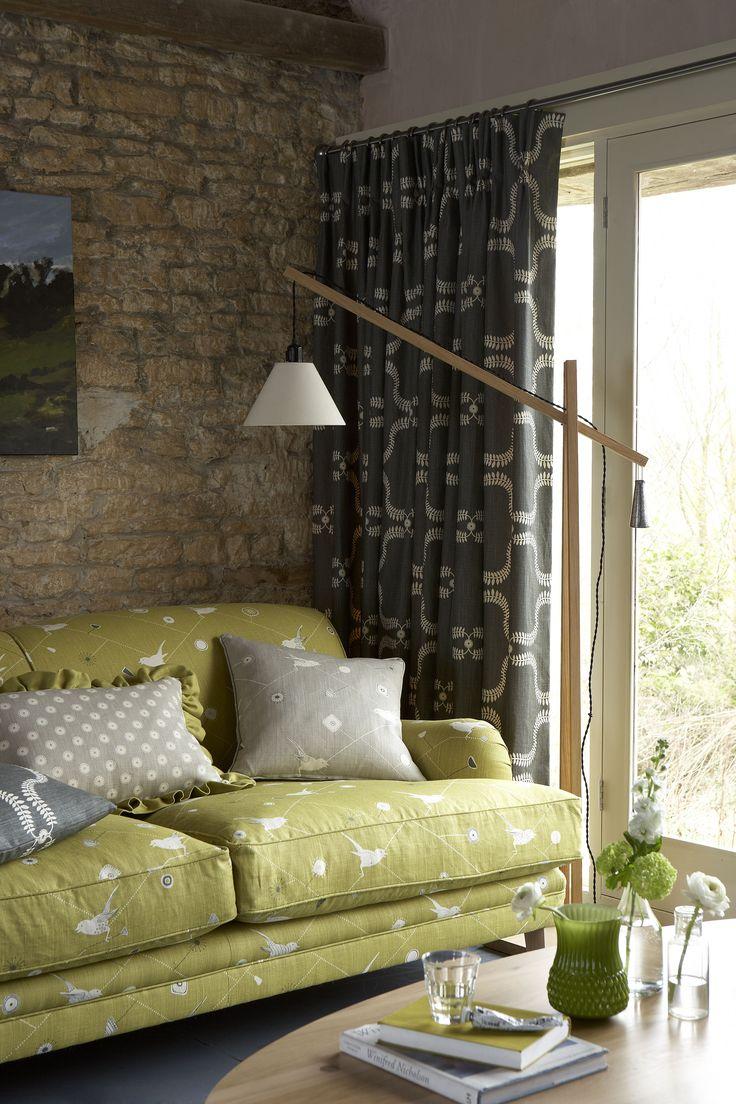 Dawn Chorus - Lime, Winter - Traditional Sofa