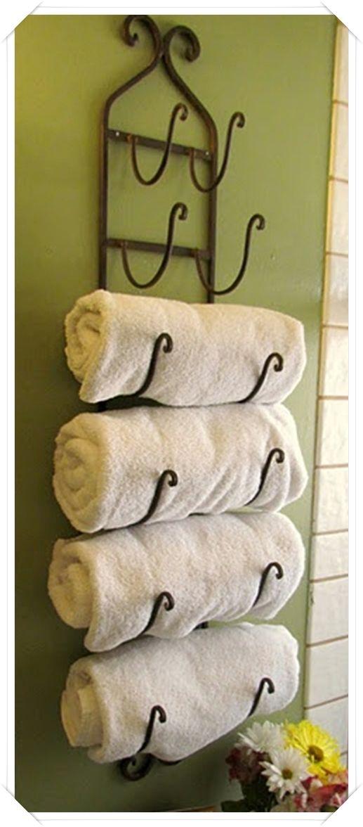 Portasalviette in ferro battuto decor pinterest - Decorare il bagno ...