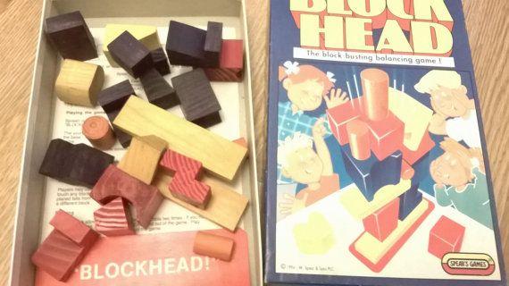 Block Head Game Block-Busting Balancing Game Rare Spears
