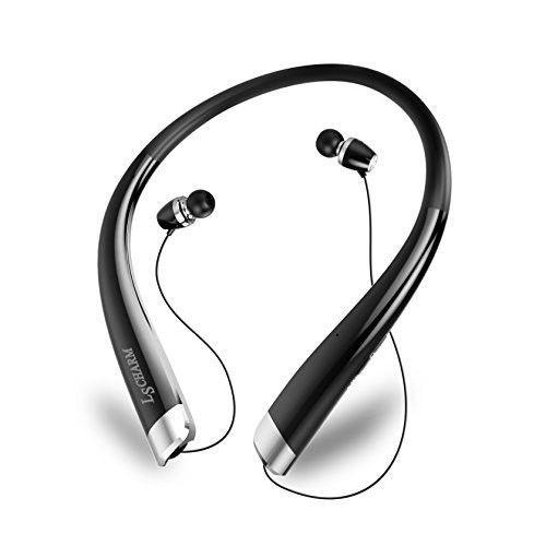 Black Neckband Bluetooth Headphones Sport Stereo Wireless Headphones Gym Workout #LSCHARM