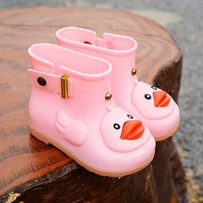acf1a9ca640af Amazon.com: Outsta Children Rain Shoes,Kids Cartoon Duck Waterproof ...