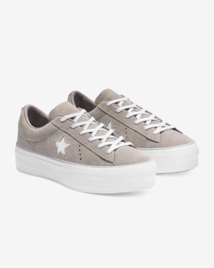 f127b819283 Converse One Star Suede Platform Women s Shoe