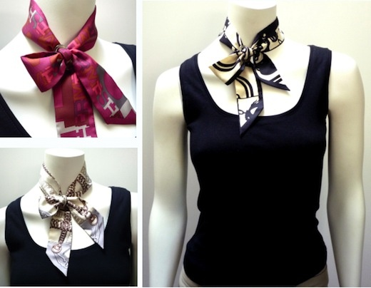 Classique scarf ring in Petite ~ with Twillys (criss-cross bow knot)