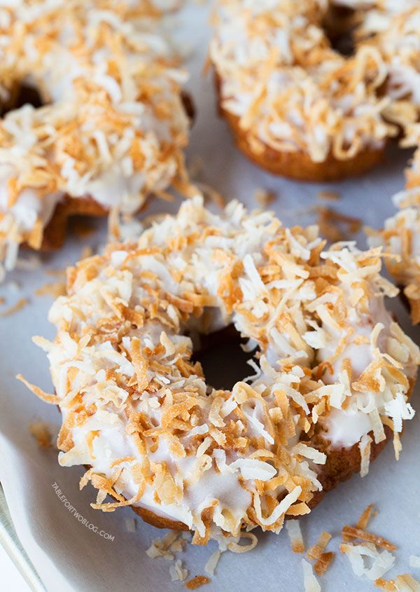 Triple Coconut Donuts