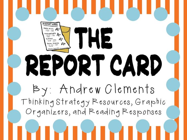 The Report Card by Andrew Clements: A Complete Novel Study! from The Teacher's Friend