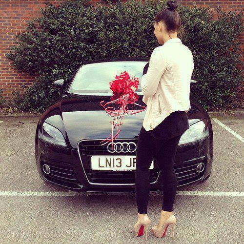 This would be the best day of my life. but it would have to be a Black Audi A4. Black. Talk about a panty dropper!