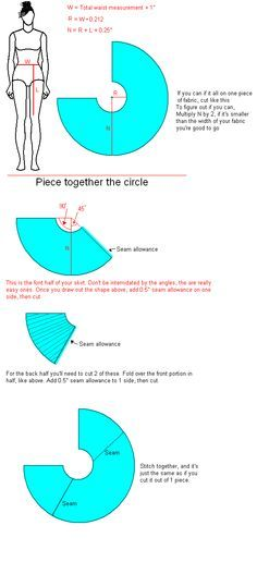 This is a tutorial for a dress, but the skirt instructions would make a great less-full circle skirt!