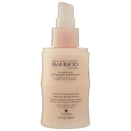 Alterna Bamboo Volume Plumping Strand Expand Unisex Lotion, 4 Ounce by Biotherm. $17.39. Instantly plumping lightweight thickening lotion.. This product meets our natural beauty standards with a high concentration of quality natural botanicals while keeping harsh chemicals to a minimum.                    BAMBOO Volume Plumping Strand Expand combines strengthening pure organic Bamboo Extract and stimulating, phyto-nutrient rich organic Maca Root in lightweight loti...