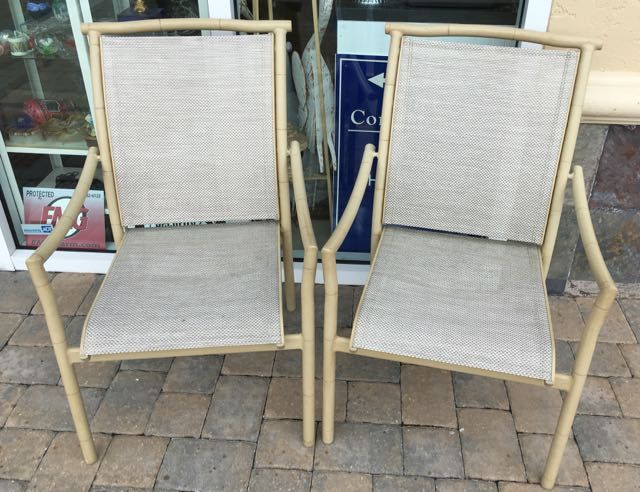 Patio Chinoiserie Pair Of Very Nice Summerwinds Outdoor Armchairs