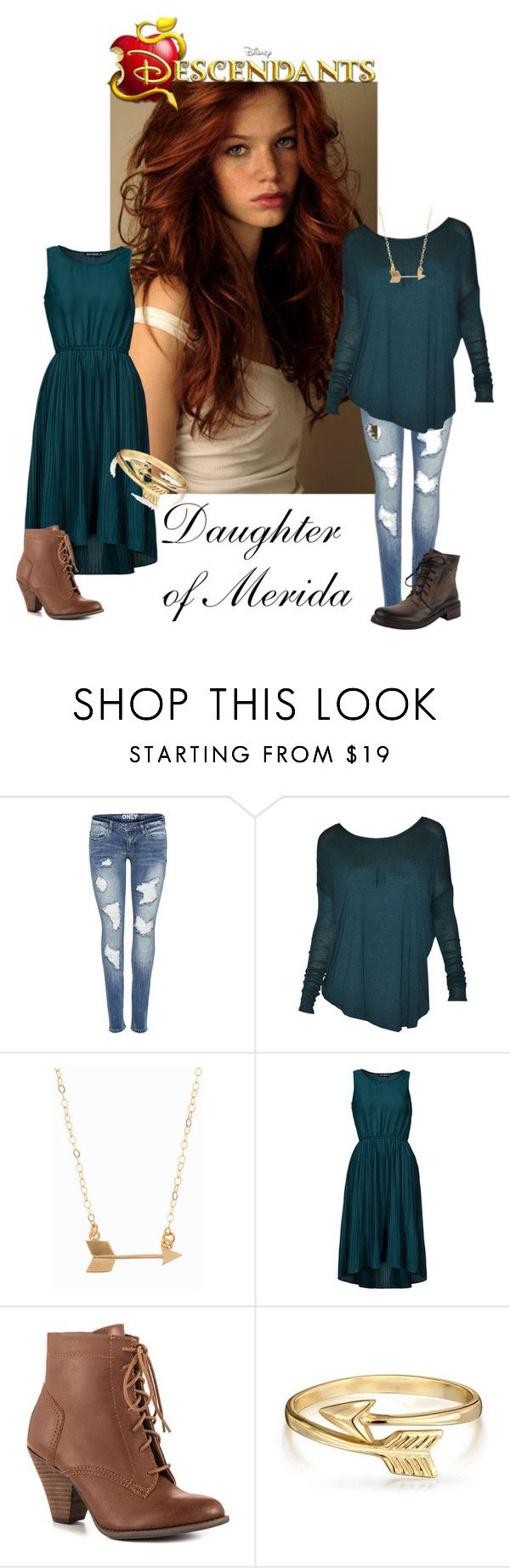 """Daughter of Merida"" by laceyleanne18 ❤ liked on Polyvore featuring Capelli New York, POL, Minnie Grace, Sally&Circle, Mojo Moxy and Bling Jewelry"