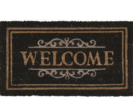Elegant Welcome Vinyl Backed Doormat