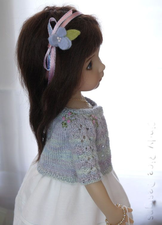 """Summer days…wish they could go on forever, don't you? My Little Darling, Gina, is wearing a new ensemble called """"Summery Days"""". Bright white cotton and cool blue and viole…"""