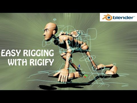 blender tutorial,easy rigging with rigify add-on - YouTube Cursos y mas en: http://linformatik.es/blog/category/cursos/?lang=es