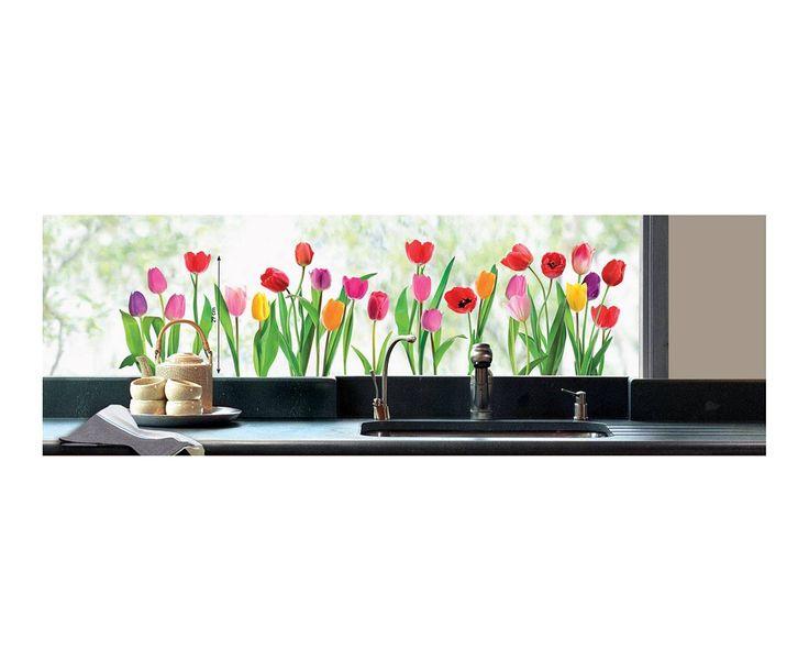 Sticker per vetri e finestre tulipani 49x70 cm dalani for Stickers dalani