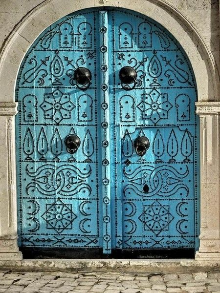 turquise doors